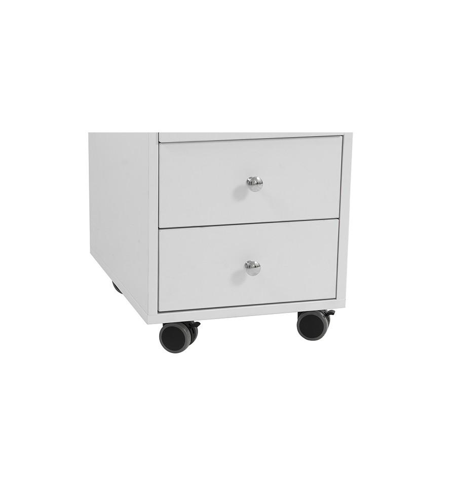 table de manucure distal avec double caisson de rangement. Black Bedroom Furniture Sets. Home Design Ideas