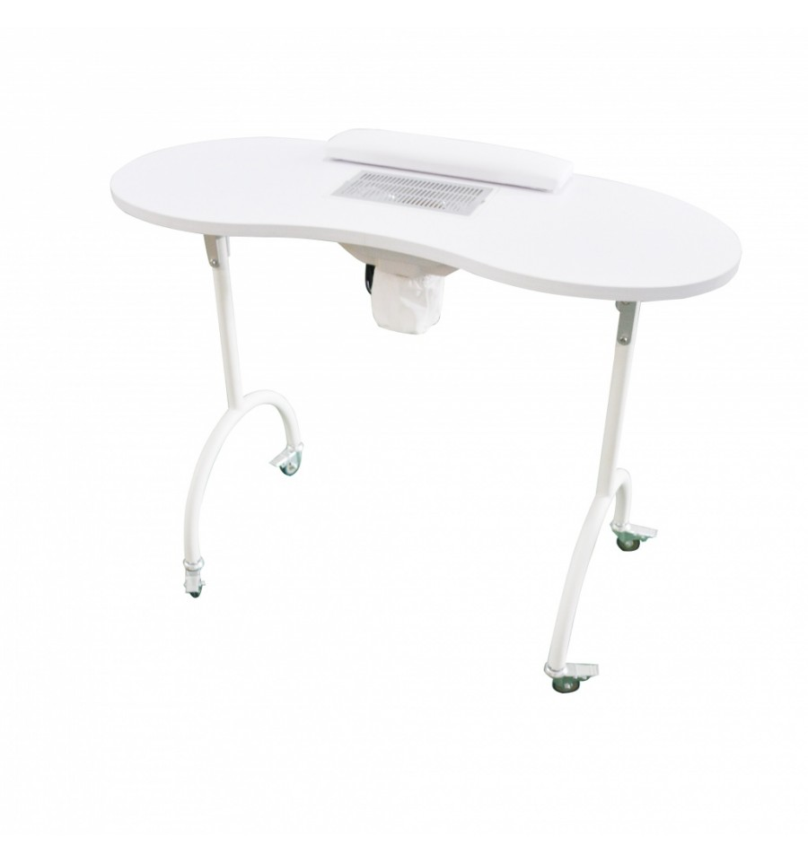 table de manucure portable et pliante quip e d 39 un aspirateur. Black Bedroom Furniture Sets. Home Design Ideas