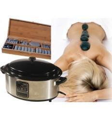 Kit massage aux pierres chaudes Cuve+64 pierres