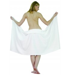 Drap de bain 100x150 cm Blanc 100% coton - 400g/m²