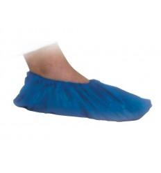 Sur-chaussure plastique bleu en boîte de 50