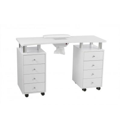 """Table de Manucure """"DISTAL"""" avec double caisson de rangement"""