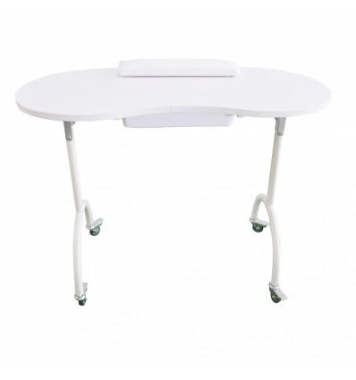 Table de manucure portable et pliante équipée d'un tiroir