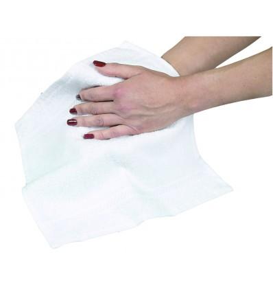 Serviette invité 30x50 cm Blanche 100% coton - 400g/m²