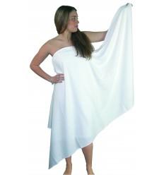 Serviette de bain 70x140 cm Blanche 100% coton - 400g/m²