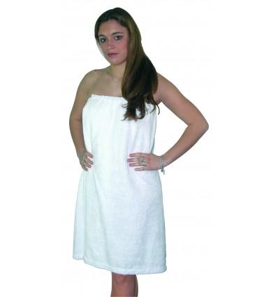 Paréo de bain Taille Unique 75x140 cm Blanc 100% coton - 400g/m²