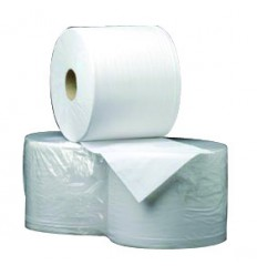 Bobine ouate d'essuyage 2 plis 19g/m² blanche